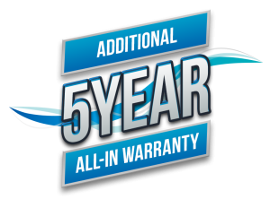 Warranty logo 5 years